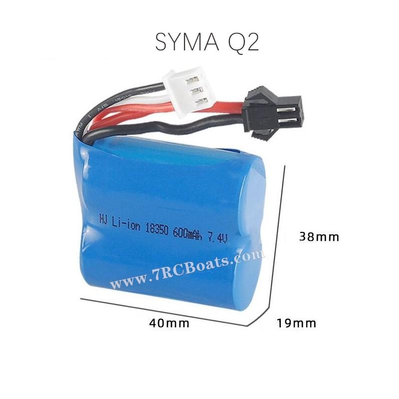 SYMA Q2 Genius RC Boat Parts Battery 7.4V 600mAh