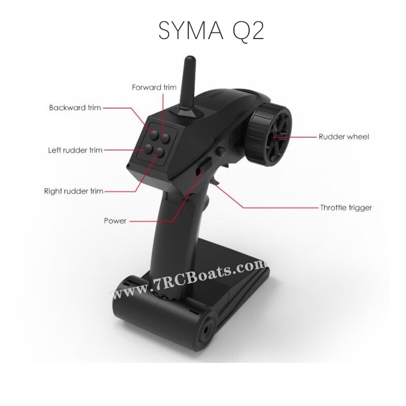 SYMA Q2 Genius RC Boat Parts 2.4G Transmitter